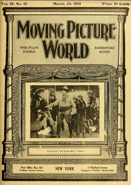 Image result for the squaw man 1914 movie poster